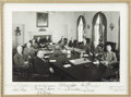 Autographs:U.S. Presidents, Harry S. Truman: Impressive Large Photo of Truman, His Vice President, and Cabinet- Autographed by All. ...