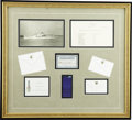 Political:Miscellaneous Political, Harry S. Truman: Unique Collection of Mementos Saved by Captain William A. Bartos, Commander of the Presidential Yacht W...