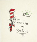 Original Comic Art:Sketches, Dr. Seuss - The Cat in the Hat Sketch Original Art (undated). ...