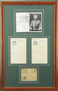 Autographs:U.S. Presidents, Harry S. Truman: Possibly Unique WWI Soldier's Letter, Censored byCaptain Truman on Both Envelope and Letter. ...