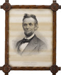 Political:Small Miscellaneous (pre-1896), Abraham Lincoln: Print by L. Prang and Co....