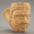 Political:3D & Other Display (pre-1896), Millard Fillmore: High-Relief Figural Clay Pipe...