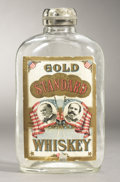 Political:3D & Other Display (1896-present), McKinley & Hobart: Spectacular 1896 Jugate Whiskey Flask....