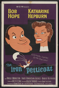 "The Iron Petticoat (MGM, 1956). One Sheet (27"" X 41""). Comedy"
