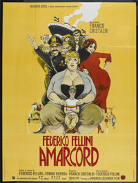 """Amarcord (New World, 1974). French Grande (47"""" X 63""""). Comedy"""