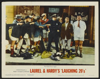 """Laurel and Hardy's Laughing 20's (MGM, 1965). Lobby Card (11"""" X 14""""). Comedy"""
