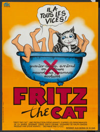 """Fritz the Cat (American International, 1972). French Petite (22.75"""" X 30.25""""). Animated"""