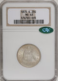 Seated Quarters, 1875-S 25C MS63 NGC. CAC....
