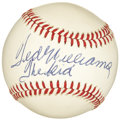 "Autographs:Baseballs, 1980's Ted Williams ""The Kid"" Single Signed Baseball. While the ""golden years"" spent by the likes of Williams, Mantle and D..."