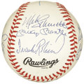 Autographs:Baseballs, 1980's 500 Home Run Club Signed Baseball. It's rare to see agenuine example of this signed ball, arguably the most forged ...