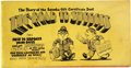 "Silver Age (1956-1969):Alternative/Underground, Topps Salesman Brochure ""The Road to Success"" Illustrated by RobertCrumb (Topps Chewing Gum Co., 1965) Condition: FN...."