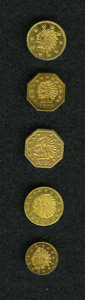 """California Gold Charms, Miscellaneous Group Lot of """"Gold"""" California Charms.... (Total: 5 pieces)"""