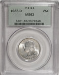 Washington Quarters, 1936-D 25C MS63 PCGS....
