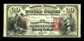 National Bank Notes:New York, Stamford, NY - $20 1875 Fr. 435 The NB of Stamford Ch. # 2602. ...