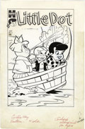 Original Comic Art:Covers, Warren Kremer (attributed) - Little Dot #6 Cover Featuring theFirst Cover Appearance of Richie Rich Original Art (Harvey, 195...