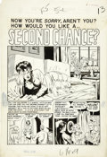 "Original Comic Art:Splash Pages, Sid Check - Crime SuspenStories #13, ""Second Chance,"" EC Quickie,page 5 Original Art (EC, 1952)...."