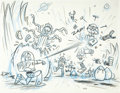 "Animation Art:Production Drawing, Jorgen Klubien - ""Toy Story"" Storyboard Drawing Original Art(Pixar, 1995)...."
