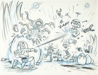 "Jorgen Klubien - ""Toy Story"" Storyboard Drawing Original Art (Pixar, 1995)"