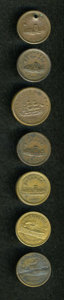 Civil War Patriotics, Group of Patriotic Civil War Tokens.... (Total: 7 tokens)
