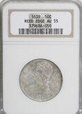 Reeded Edge Half Dollars, 1839 50C Reeded Edge AU55 NGC....