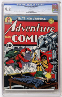 Adventure Comics #72 Mile High pedigree (DC, 1942) CGC NM/MT 9.8 White pages