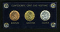 Civil War Tokens, Three-Piece Set of Bashlow Restrike 1861 Confederate Cents....(Total: 3 coins)