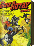 Golden Age (1938-1955):Western, Gene Autry Comics #1-10 Bound Volume (Fawcett, 1941-43)....