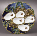 Political:3D & Other Display (pre-1896), White House China: Colorful Oyster Plate from Benjamin Harrison'sWhite House Service....
