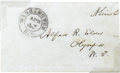 Autographs:U.S. Presidents, Abraham Lincoln: Personally Franked 1863 Envelope Used by a Guest at the White House to Send This Letter Home....