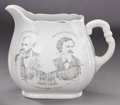 Political:3D & Other Display (pre-1896), Harrison & Reid: 1892-Dated Mate to the Cleveland &Stevenson Pitcher. ...