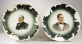 Political:3D & Other Display (1896-present), McKinley and Bryan: Scarce Pair of Matched Plates.... (Total: 2 Items)