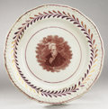Political:3D & Other Display (pre-1896), Andrew Jackson: Circa 1824 Paste Portrait Plate....