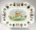 Political:3D & Other Display (1896-present), William McKinley: Large Platter Featuring the Presidents...