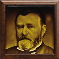 Political:3D & Other Display (pre-1896), Ulysses S. Grant: Unusual Heavy Ceramic Portrait Tile....