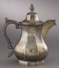 Political:3D & Other Display (pre-1896), Hannibal Hamlin: Important Coin Silver Teapot by Gale & Hughes of New York, Engraved to Lincoln's Future First Vice President ...