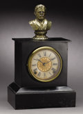 Political:3D & Other Display (pre-1896), Ulysses S. Grant: Scarce Circa 1870-1880 Mantle Clock with Brass Military Bust. ...