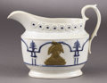 Political:3D & Other Display (pre-1896), George Washington: Circa 1800 Ceramic Creamer Picturing the First American President. ...