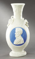 Political:3D & Other Display (pre-1896), Abraham Lincoln: Civil War Period Parian Vase with DistinctiveBearded Profile....