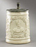 Political:3D & Other Display (pre-1896), Abraham Lincoln: Civil War Period Lidded Ceramic Mug....