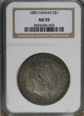 Coins of Hawaii, 1883 $1 Hawaii Dollar AU55 NGC....