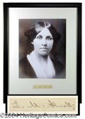 Autographs, Louisa May Alcott Rare Ink Signature