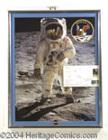 Autographs, Buzz Aldrin Signed FDC Display