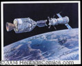 Autographs, Apollo-Soyuz Mission Crew Signed Photo 16+