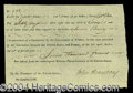 Autographs, John Armstrong Signed Document War of 1812