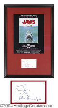 Autographs, Peter Benchley (Jaws) Signature Display