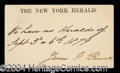 Autographs, James Gordon Bennett Signature