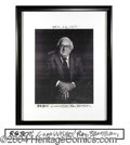 Autographs, Ray Bradbury Signed Photo Display