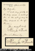 Autographs, Phillips Brooks Handwritten Letter Signed