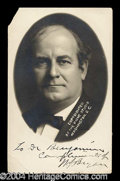 Autographs, William Jennings Bryan Signed Postcard Photo
