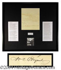 Autographs, William Cullen Bryant Signed Letter US Poet